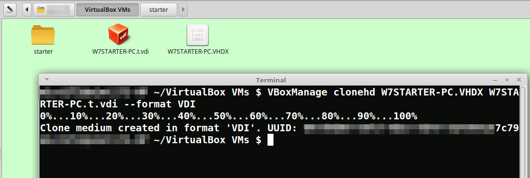 To convert  VHDX to  VDI VirtualBox file in linux | Puolanka